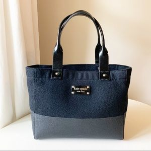 Kate Spade - Wool Glitter Black Shoulder Bag